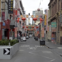 Decorations for the Lunar New Year in Melbourne's deserted Chinatown on Feb. 13.  | BLOOMBERG