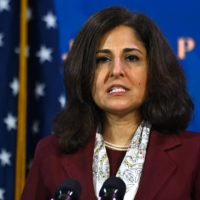 Neera Tanden became President Joe Biden's first Cabinet casualty on Tuesday when she withdrew her nomination to be budget director. | AFP-JIJI