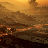 The surface of the newly discovered exoplanet called Gliese 486 b, a type of planet known as a 'hot super-Earth,' is seen in an undated artist's impression. With a surface temperature of about 430 degrees Celsius, astronomers suspect that the planet has a Venus-like hot and dry landscape interspersed with glowing lava rivers, possibly with a tenuous atmosphere. | RENDERAREA / VIA REUTERS