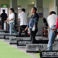 Recreational golf has been thriving since the outbreak of COVID-19 last year. | KYODO