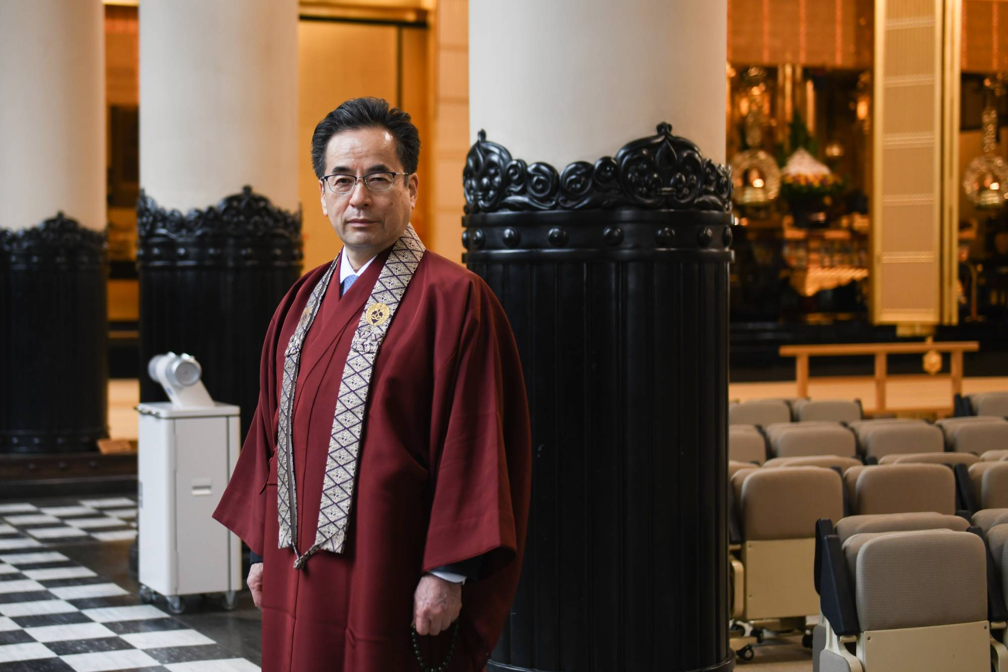 Yugen Yasunaga, representative director and priest at Tsukiji Hongwanji temple | BLOOMBERG