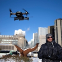 Chinese drone maker DJI holds a demonstration in Montreal in 2019. | REUTERS