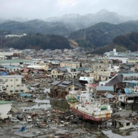 Damage caused by the March 11, 2011, tsunami was extensive it the city of Kesennuma, Miyagi Prefecture.  | AFP-JIJI