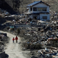 The earthquake- and tsunami-damaged area of Miyako, Iwate Prefecture, in April 2011.  | REUTERS