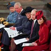 From left: Britain's Queen Elizabeth II; Prince Charles; Camilla, Duchess of Cornwall; Prince William; and Catherine, Duchess of Cambridge.  | POOL / VIA REUTERS