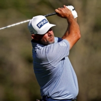 Lee Westwood plays his shot from the sixth tee during the second round of The Players Championship in Ponte Vedra Beach, Florida. | USA TODAY / VIA REUTERS