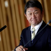 Foreign Minister Toshimitsu Motegi and Defense Minister Nobuo Kishi will hold talks with their U.S. counterparts in Japan this week. | REUTERS
