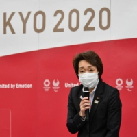 Seiko Hashimoto, a 56-year-old former Olympian and Cabinet minister, was appointed president of the Tokyo Organising Committee in February after her predecessor, Yoshiro Mori, resigned in response to a global backlash triggered by his sexist remarks. | RYUSEI TAKAHASHI