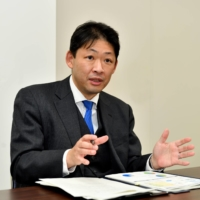 Yuichi Imai, director of the Media, Information and Foreign Language Education Division, at the Ministry of Education, Culture, Sports, Science and Technology, speaks about the GIGA School Program. | YOSHIAKI MIURA