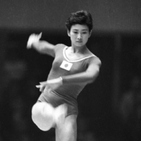 Kiyoko Ono competes on the balance beam during the 1964 Tokyo Olympics. Ono died Saturday at the age of 85. | KYODO