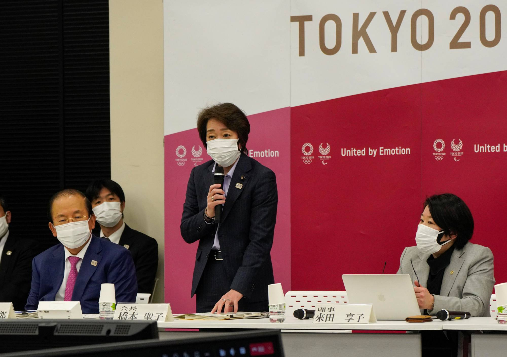 Seiko Hashimoto, president of the Tokyo 2020 Organising Committee of the Olympic and Paralympic Games, speaks during a news conference in Tokyo Monday. | POOL / VIA REUTERS