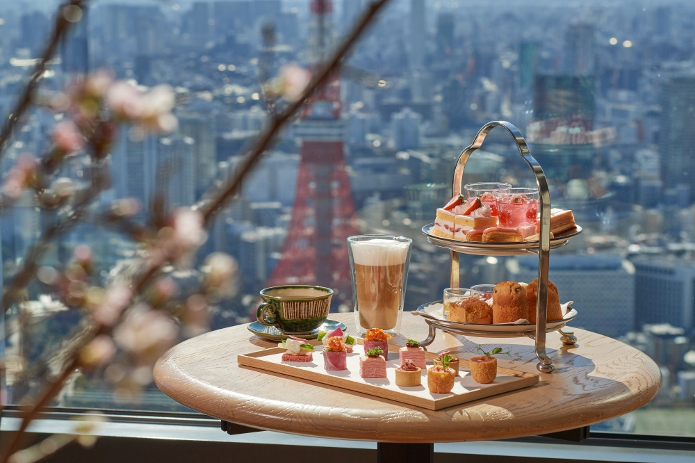 This year's Sakura Afternoon Tea features a variety of sweet and savory items celebrating the arrival of spring. |