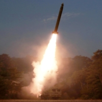 A North Korean missile is launched in this undated picture released March 9, 2020. The revelation Wednesday of North Korea's test of two short-range missiles over the weekend could be the start of a fresh cycle of provocations, potentially putting Washington in a tough spot as it nears the conclusion of a review of U.S. policy toward Pyongyang. | KCNA / VIA REUTERS