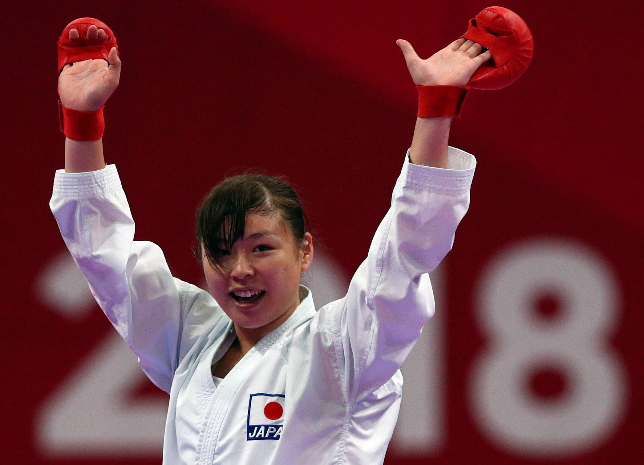 Ayumi Uekusa, seen in 2018, was verbally abused by Japan's karate national team technical director in 2016, according to sources with knowledge of the matter. | REUTERS