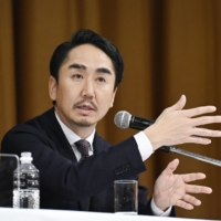 Line Corp. CEO Takeshi Idezawa said Tuesday that the company lacked awareness of what China's National Intelligence Law had meant for its business. | KYODO