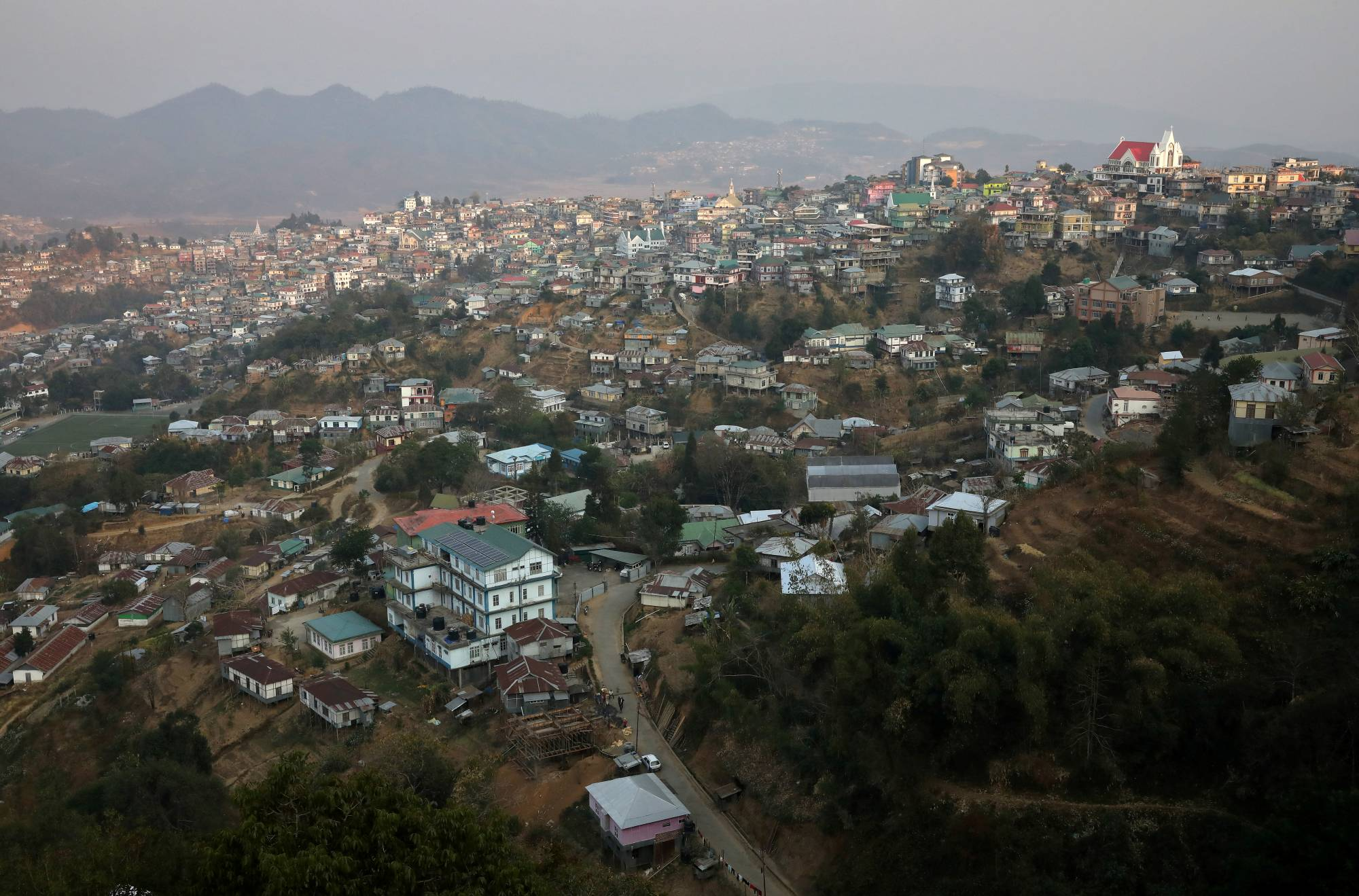 Champhai town in India's northeastern state of Mizoram near the India-Myanmar border | REUTERS