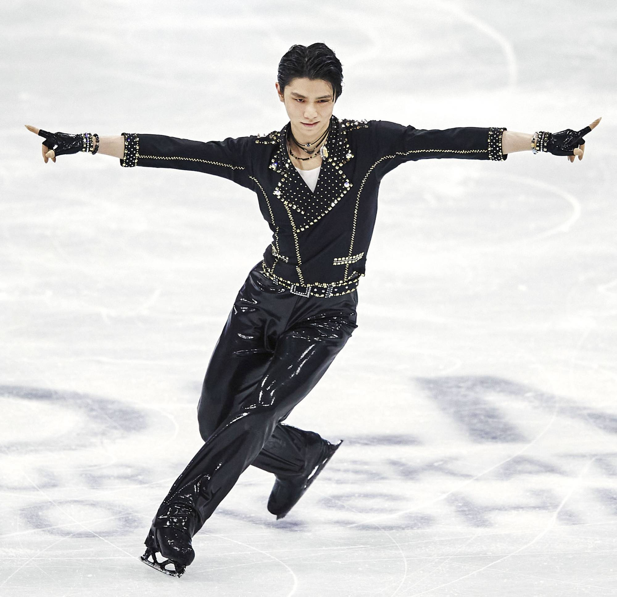 Yuzuru Hanyu competes in the Men's Short Program during day two of the ISU World Figure Skating Championships at Ericsson Globe, on Thursday, in Stockholm.   ISU / GETTY IMAGES / VIA KYODO