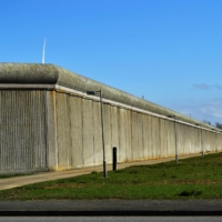 A section of the exterior wall of HMP Elmley in Leysdown-on-Sea on the Isle of Sheppey, England.  | REUTERS