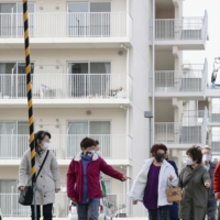 A public housing site in Iwaki, Fukushima Prefecture, where some evacuees from the areas surrounding the Fukushima No.1 nuclear plant now live  | KYODO
