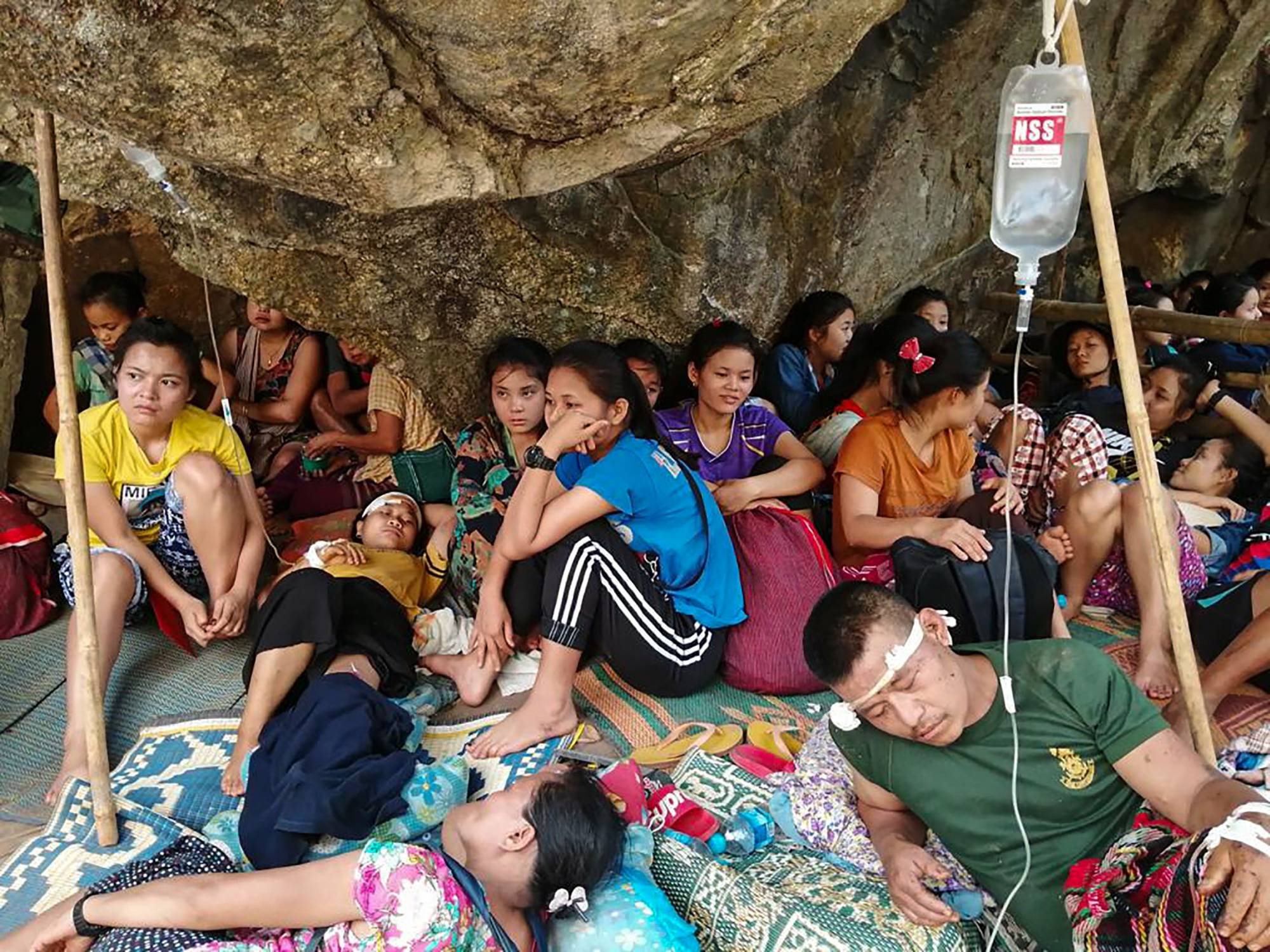 Wounded Myanmar refugees tell of airstrike horror | The Japan Times