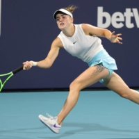 Ukraine's Elina Svitolina is one of several players at the Miami Open who have expressed reluctance to receive a COVID-19 vaccine. | USA TODAY / VIA REUTERS
