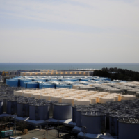 Storage tanks for treated water at the Fukushima No. 1 nuclear power plant in the town of Okuma, Fukushima prefecture. | REUTERS