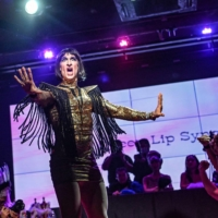 A drag queen performs a lip sync during a voguing ball at a bar in Beijing.  | AFP-JIJI