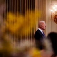 U.S. President Joe Biden speaks at the White House on Friday. | AMR ALFIKY / THE NEW YORK TIMES