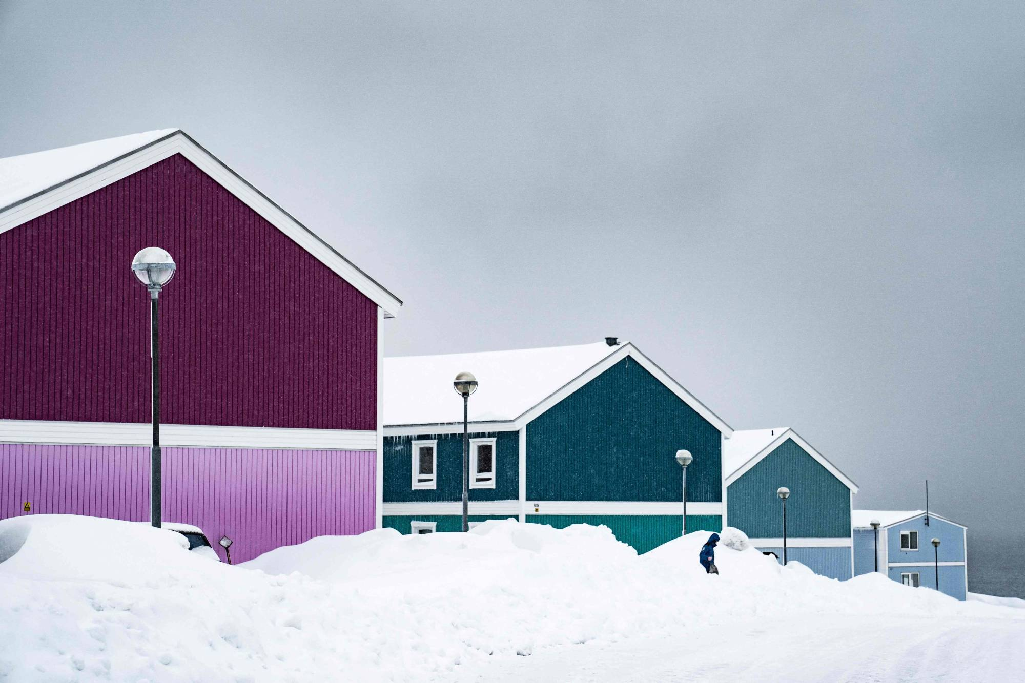 Traditional wooden houses in Nuuk, Greenland. The autonomous Danish territory of Greenland votes on April 6, 2021 in legislative elections. | AFP-JIJI