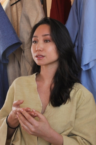 Sense of style: Mima Osawa creates garments with an eco-conscious approach for her clothing line, Mono Handmade.