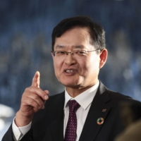 Toshiba Corp. Chief Executive Officer Nobuaki Kurumatani was a senior executive at CVC Capital Partners before joining Toshiba in 2018 as the first outsider to lead the company in more than 50 years. | BLOOMBERG