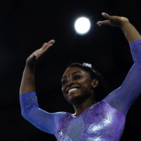U.S. gymnast Simone Biles has left the door open to possibly competing at the 2024 Summer Games in Paris. | AFP-JIJI