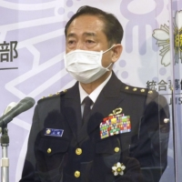 Gen. Koji Yamazaki, chief of staff at the Defense Ministry's Joint Staff, said Thursday that four Self-Defense Forces troops in Djibouti dined out without submitting a prior report on March 25. | KYODO