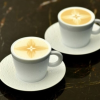 The lattes at Le Cafe V come with a unique Monogram Star motif  | COURTESY OF LOUIS VUITTON