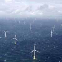 Power-generating windmill turbines near the island of Amrum, Germany.  | REUTERS