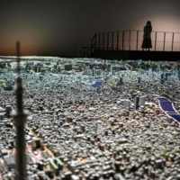 The Urban Lab project at Tokyo's Mori Building shows the entire capital at 1:1,000 scale. | AFP-JIJI