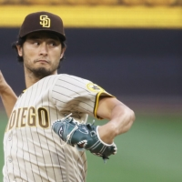 Padres starting pitcher Yu Darvish throws against the Pirates on Monday in Pittsburgh. | USA TODAY / VIA REUTERS