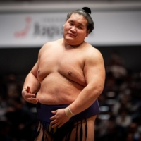 Terunofuji has rebounded from several injuries to return to sumo's second-highest rank of ozeki. | JOHN GUNNING