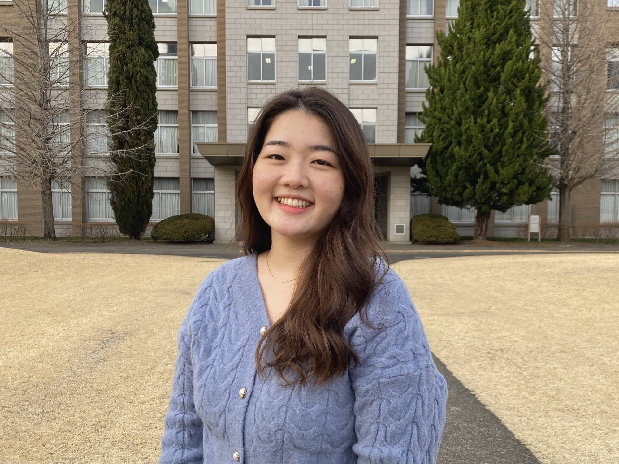 Importing information: After spending her childhood growing up in various countries in Latin America, Tohko Hirota hopes to promote some of the discussions she had overseas with people here in Japan.   