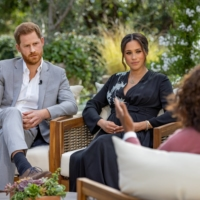 Britain's Prince Harry and Meghan, Duchess of Sussex, are interviewed by Oprah Winfrey in this undated handout photo.  |  HARPO PRODUCTIONS/JOE PUGLIESE/ HANDOUT VIA REUTERS/FILE PHOTO