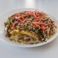 How to make tonpeiyaki cabbage and pork omelette