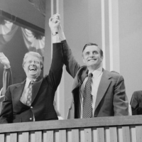 Jimmy Carter and Walter Mondale at the Democratic National Convention in New York City in 1976  | LIBRARY OF CONGRESS / VIA REUTERS