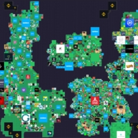 A map of the lands within The Sandbox gaming virtual world | SANDBOX / VIA REUTERS