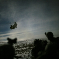 A helicopter lands to pick up U.S. soldiers following a night raid in Paktika province, Afghanistan, in February 2011. | REUTERS