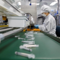 An assembly line at a low dead space syringe factory in Gunsan, South Korea | REUTERS