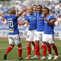 Marinos thrash Yokohama FC in derby to extend unbeaten run
