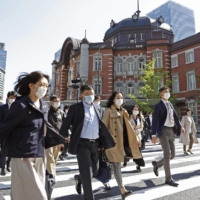 Commuter routes remain busy despite Japan's third COVID-19 state of emergency