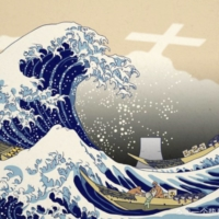 China official won't delete satirical Hokusai pic about Fukushima water