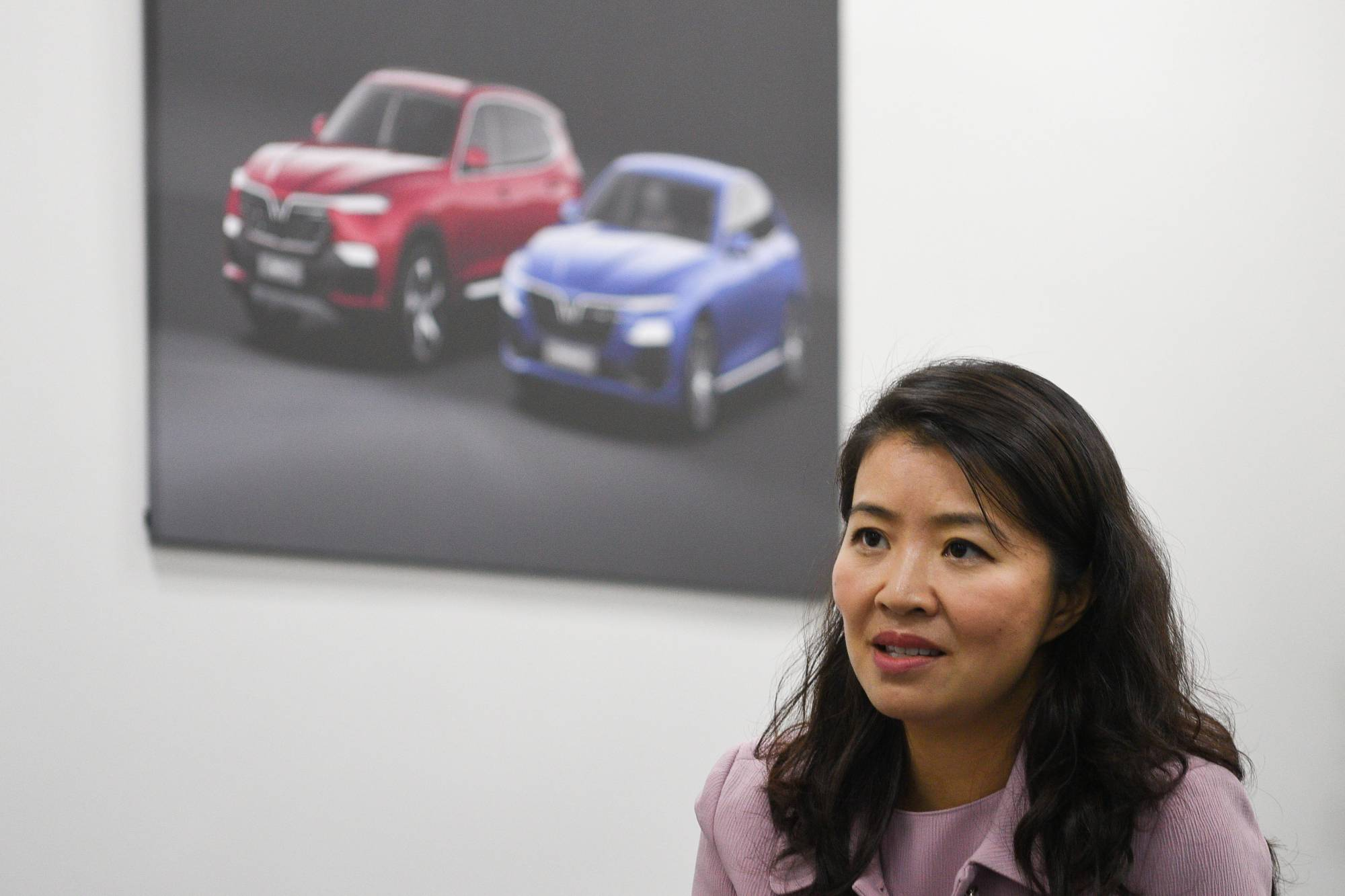 VinFast CEO Nguyen Thi Van Anh during an interview on April 22. | REUTERS