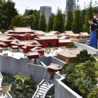Fire-hit Shuri Castle re-created in miniature form at theme park